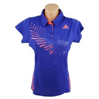 ŽENSKA MAJICA ZA TRENING Adidas T-shirt POLO BADMINTON ADIDAS S09174